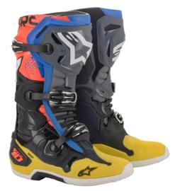 Alpinestars Tech 10 Boots Black Yellow Blue Red Fluo