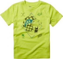 Fox Off Center SS Tee Yellow Kids (mini)