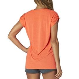 Fox V-neck Roll T-shirt Fluor Orange