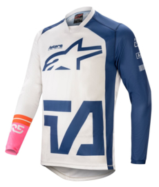 Alpinestars Racer Compass Jersey Off White Navy Pink Fluo 2021