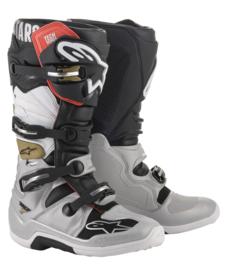 Alpinestars Tech 7 Boots Black Silver White Gold