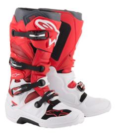 Alpinestars Tech 7 Boots White Red Burgundy