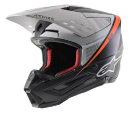 Alpinestars S-M5 Rayon Helmet Black White Orange Fluo Mat