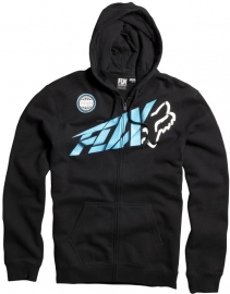 Fox Riptide Zip Front Fleece Hoody Black