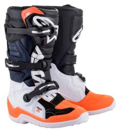 Alpinestars Tech 7S Boots Zwart Wit Fluo Oranje 2021