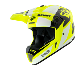 Kenny Track Graphic Helm White Neon Yellow 2021