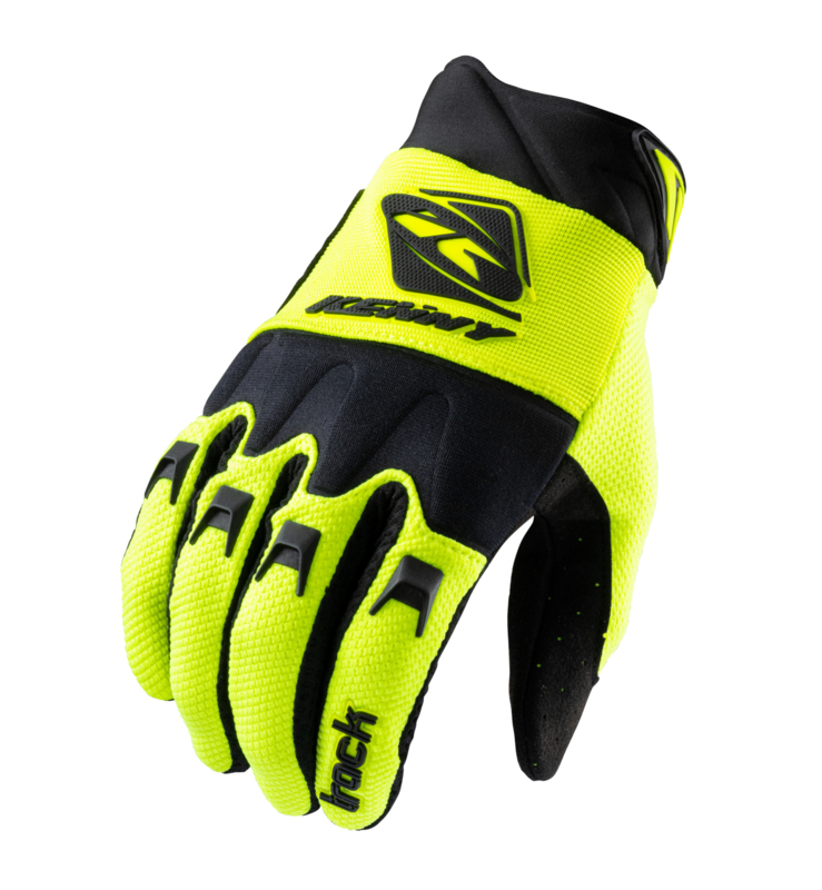 Kenny Track Glove Kids Black Neon Yellow 2021