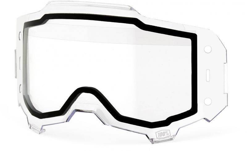 100% Armega Forecast Roll Off Clear Duallayer Lens