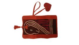 Wallet XL Mola design Red