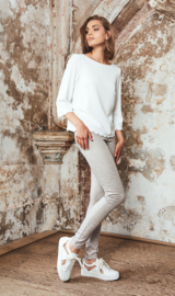 Homage -  Metallic Skinny Jeans - Light Taupe