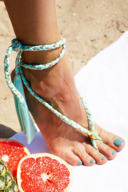 Boho Bikini -Braided Multi Ribbon - Mint