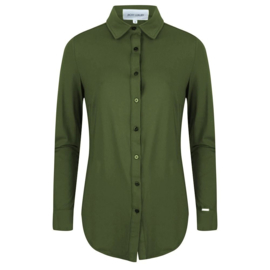 Jacky Luxury - Basic blouse stretch - Army
