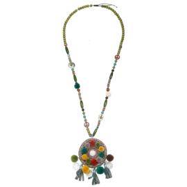 Necklace - Winter shell Ibiza - Green