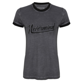 Iconic27 -Nevermind T-shirt - Faded Black