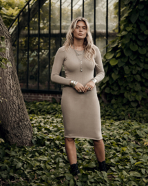 Moost Wanted - Seanna Dress -  Beige