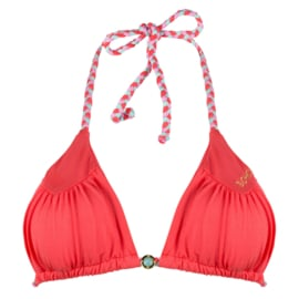 Boho Bikini - Vivid Triangle - Coral
