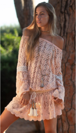 Always the sun - Off-shoulder Tunic Palm Beach - Peach