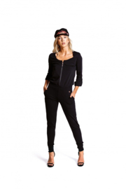 Jacky Luxury - Jumpsuit Traveller  Zipp - Black