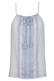 Isla Ibiza - Embroided Top  - Lila