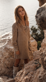 Moost Wanted -Knitted  Sweater/Dress Lavina - Tender Taupe