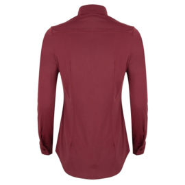 Jacky Luxury - Basic blouse stretch - Aubergine