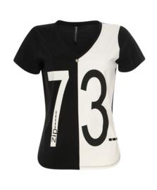 ZIP73 - Top  - Zwart/Wit