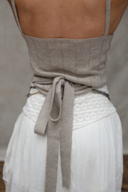Moost Wanted -  Luna Knitted Wrap Top - Tender Taupe