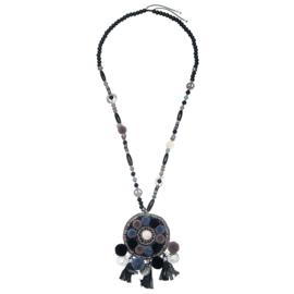 Necklace - Winter shell Ibiza - Black