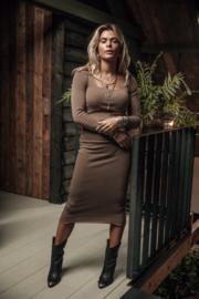 Moost Wanted -Bella Skirt - Ash Brown