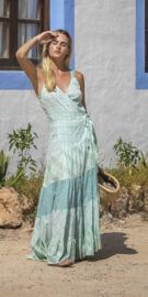 Isla Ibiza - Maxi Wrapp Dress Mix Print - Aqua