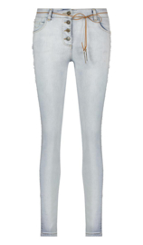 Isla Ibiza -  Mid Rise Skinny jeans Trouser  - Denim Blue