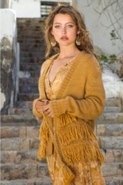 Isla Ibiza - Knitted Fringe Cardigan - Oker