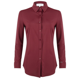 Jacky Luxury - Basic blouse stretch - Aubergine