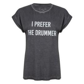 Iconic27 -Drummer T-shirt - Faded Black