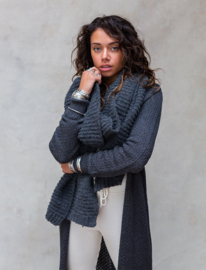 Moost Wanted - Maeve Knitted-Scarf - Stone Grey