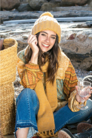 Isla Ibiza - Knitted Scarf - Oker