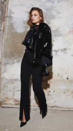 Homage - Flared Jeans Frayed Slits - Black
