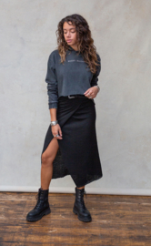 Moost Wanted - Gina Knitted Wrap Skirt - Black