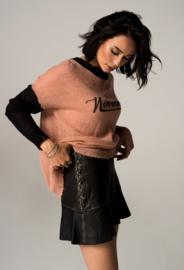 Iconic27 - Leather Rub Off Skirt - Black