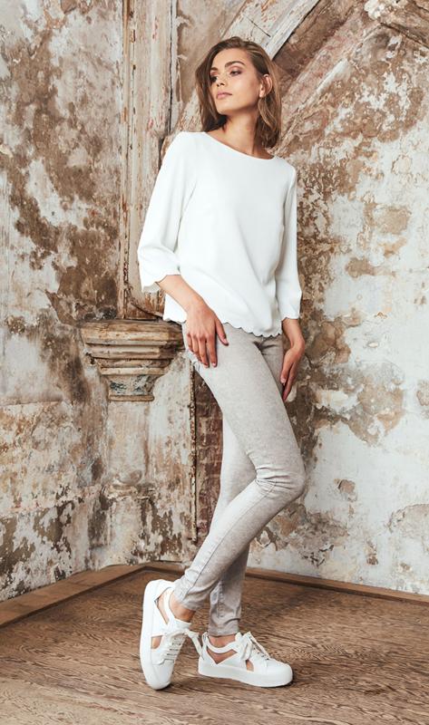 Homage -  Metallic Skinny Jeans - Light Taupe