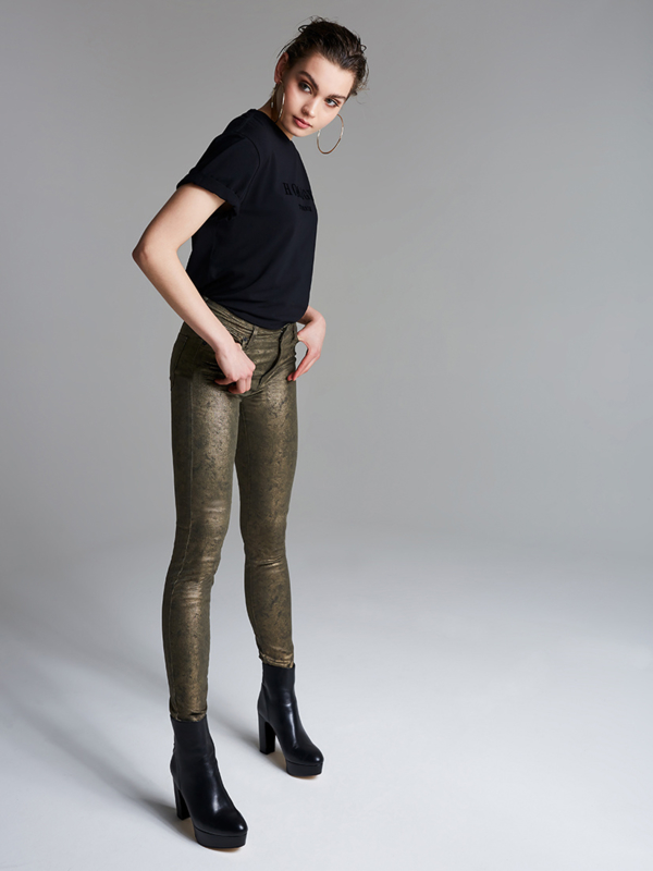 Homage - Skinny Jeans - Metallic Army