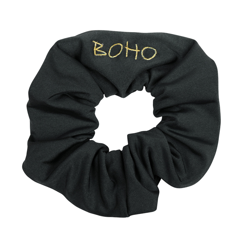 Boho Bikini -Hair Scrunchy - Charcoal