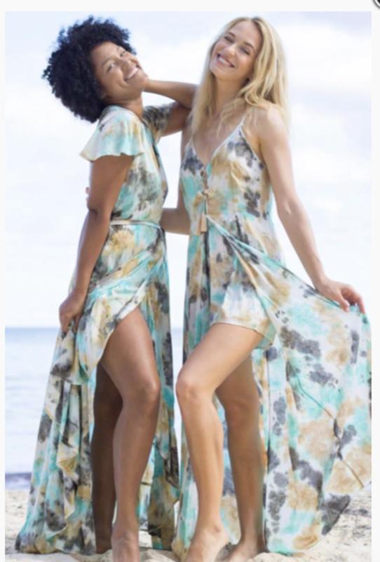 Mele Beach -Long dress June  - Loto Aqua