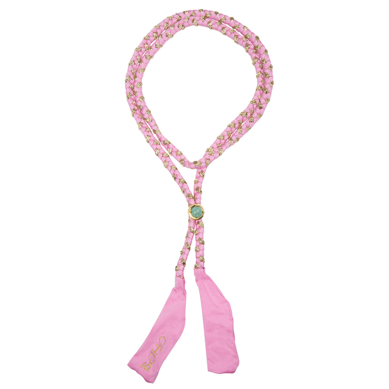 Boho Bikini -Braided Multi Ribbon - Rose