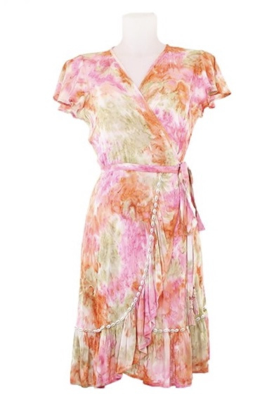 Mele Beach - Short dress June  - Loto Pink
