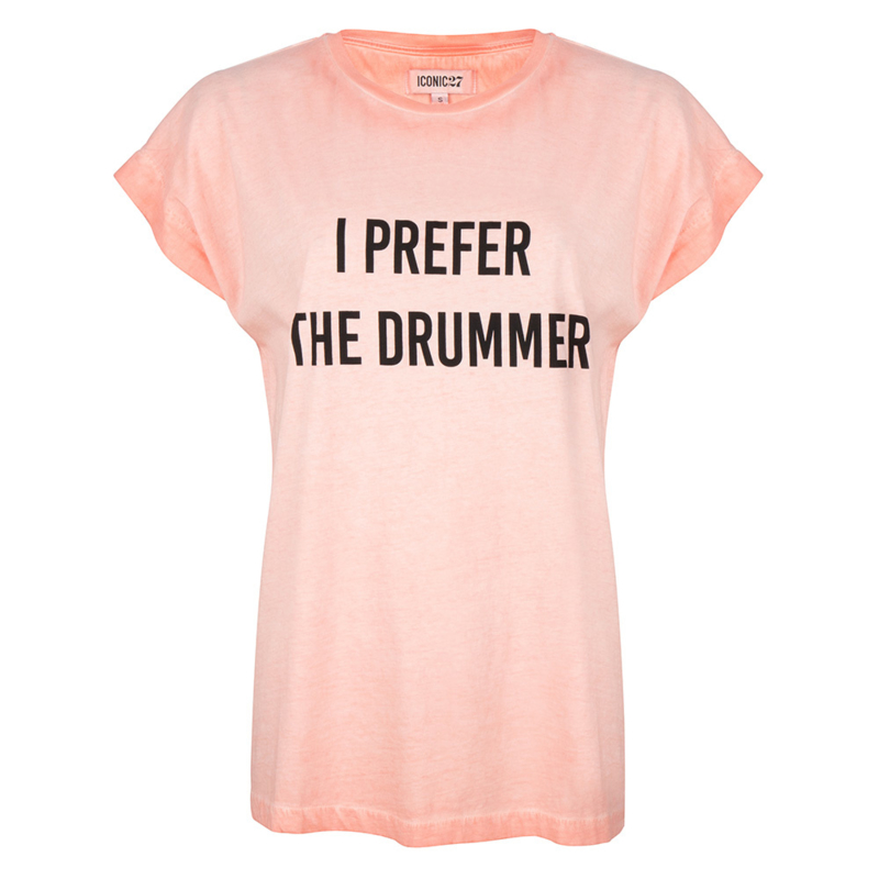 Iconic27 -Drummer T-shirt - Pink