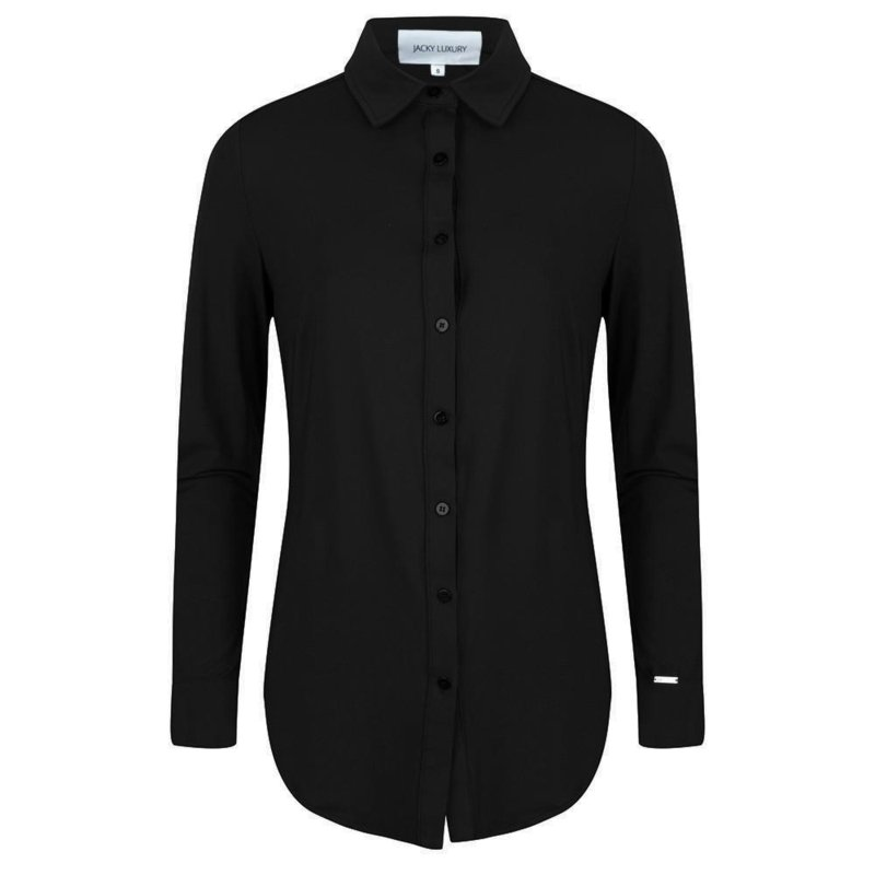 Jacky Luxury - Basic blouse stretch - Black