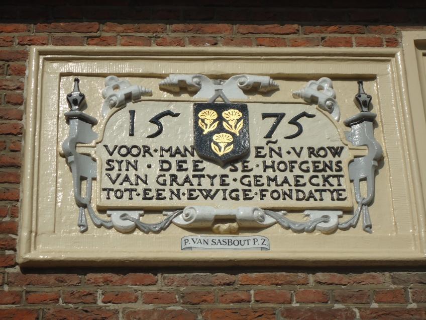 Delft hofje van Pauw. wandelen