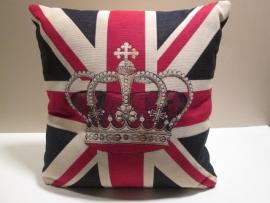 Kussen mini-engelse vlag/kroon