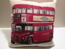 Kussen mini-engelse bus